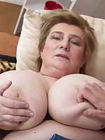 Big breasted mature slut doing her friend