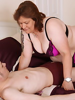 This naughty British BBW loves fooling around with her toy boy